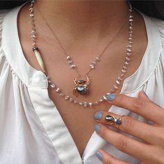 Friday #Love @danielavillegasjewelry #DanielaVillegas #OneOfAKind #WearableArt #Pearls #Love #ROSEARK