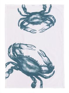 Crabby themed towels could even be used for large napkins for your next crab feast!