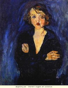 Chaim Soutine. Woman with Arms Folded. c.1929. Oil on canvas. 88.9 x 63.5 cm. Private collection.