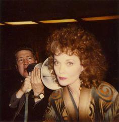 David Lynch and Grace Zabriskie on the set of Twin Peaks.