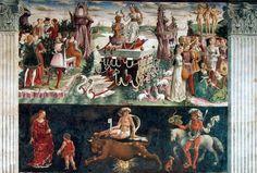 """Francesco del Cossa: """"Alegoría de Abril, o triunfo de Venus"""",1476-84"""