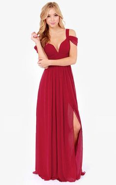 Solid Color Sexy Backless V-neck Party Dress Long Dress