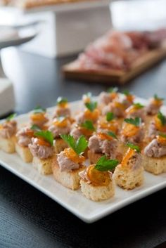 Duck Rilettes on toasted brioche canapés with Kumquat or Orange Marmalade