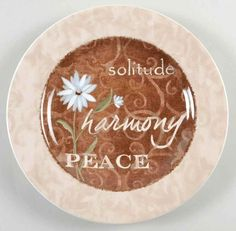 """5.99+8.99  7""""  (REPLACEMENTS LTD) FOR WALL??   Casa Moda EARTHLY INSPIRATIONS Solitude Salad Plate 8622433 #CasaModa"""
