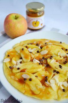 Pannekoeken hollandais aux pommes, caramel de pommes dieppois & pépites de chocolat