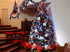 red white and blue christmas tree blue christmas trees christmas tree themes