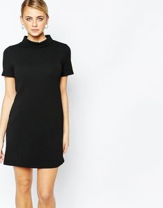 Fashion Union Textured T-Shirt Dress with Funnel Neck