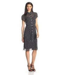 Black Friday MSK Women's Petite Short Sleeve Printed Shirtdress, Black/White, 10 Petite from MSK Cyber Monday Casual Dresses For Women, Dresses For Work, Petite Shorts, Dress Collection, Fashion Looks, Shirt Dress, Fashion Outfits, Black And White, Sweaters