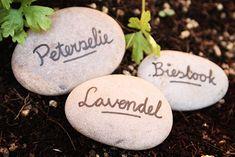 garden marker stones