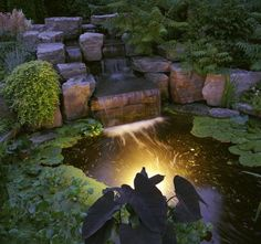 Specializing in RI Water Feature Design, Massachusetts Pond, Ponds Construction, Pond Water Features and Fountains! Backyard Water Feature, Ponds Backyard, Backyard Ideas, Koi Ponds, Pond Landscaping, Landscaping With Rocks, Design Cascade, Small Garden Waterfalls, Design Fonte