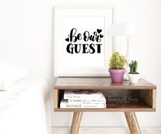 Hand Lettered Be Our Guest Free Print + Cut File | DawnNicoleDesigns.com
