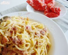 Karbonara by Aliki - preporuka Ciabatta, Italian Recipes, Spaghetti, Food And Drink, Pizza, Ethnic Recipes, Drinks, Blog, Drinking
