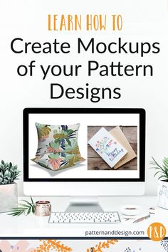 Learning to create mockups of your surface pattern designs is a really powerful way to present and promote your design work. Learn to create mockups in both Photoshop and Illustrator Pattern Designs, Surface Pattern Design, Textile Design, Fabric Design, Inspiration For Kids, Design Inspiration, Design Ideas, Patterns In Nature, Floral Patterns