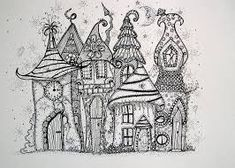 Image result for zentangle stacked houses