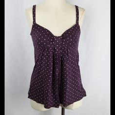 Plum babydoll AE tank Cream colored pattern American Eagle Outfitters Tops Tank Tops