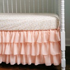 Hey, I found this really awesome Etsy listing at https://www.etsy.com/listing/210940711/peach-sherbet-bumperless-crib-bedding