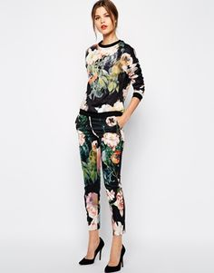 Ted Baker Trousers in Opulent Bloom Print