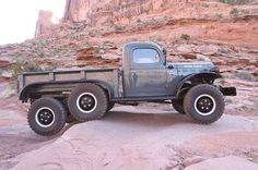 This is a real cool #dodge #powerwagon from #legacyclassictrucks. It's interesting because it has 6 wheels. I want one! #truck #pickuptruck #pickup #classiccar #carshow #carshows #americantruck