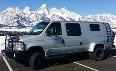 Sportsmobile Custom Camper Vans - Aluminess front and rear bumper, ladder
