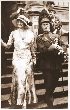 Queen Astrid and King Leopold III of Belgium.