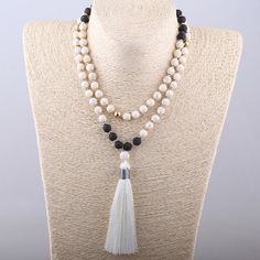 White Stones Bohemian Tribal Jewelry Long White Tassel Necklace For Women Lariat   Jewelry & Watches, Fashion Jewelry, Necklaces & Pendants   eBay!