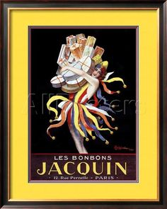 Les Bonbons Jacquin Giclee Print by Leonetto Cappiello at AllPosters.com