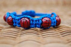Royal Blue Basketball Bracelet   More cord by DiamondDivas33, $8.75