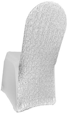 Spandex Banquet Chair Covers Silver Sequin #Unbranded