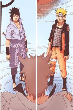 Sasuke and Naruto meet Sage of the Six Paths