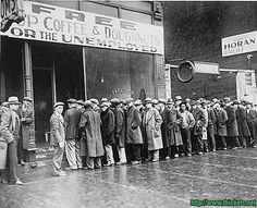 """30's Great Depresion   """"People could not afford to buy what workers were producing."""""""
