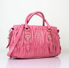 Prada bn8350 tote bag in cherry pink