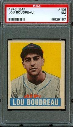 1948 Leaf #106 - Lou Boudreau (RC) - PSA 7 -- Cleveland Indians Rookie by Leaf. $210.00. 1948 Leaf #106 - Lou Boudreau (RC) - PSA 7 -- Cleveland Indians Rookie