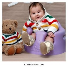 Cute Baby in Stripes