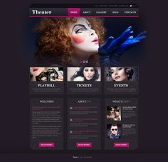 Theater Responsive WordPress Theme #50879. Additional features, comprehensive documentation and stock photos are included.