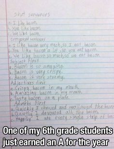 I seriously think my son may have written this. Lol! #homeschooling memories