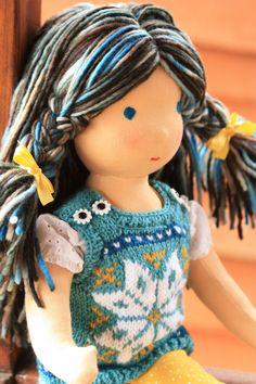 we like her hair  // Waldorf doll