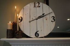 Large DIY Clock From Reclaimed Wood