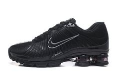 80c0fffb59d Nike Air Shox 2018 Triple Black Silver Mens Footwear