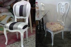 como restaurar una silla oscura para blanca