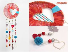 Make Dreamcatcher: 7 detailed DIY instructions and many great ideas Ad Clicks: 0 Ad View: 0 Ad Click: 0 Ad View: 0 Ad Click: 373 Ad View: 11155 Decoration, Lifestyle, DIY, Trends, Tips Make an idea Dr Valentines Bricolage, Valentine Crafts, Valentine Heart, Diy Projects To Try, Craft Projects, Craft Ideas, Project Ideas, Kids Crafts, Diy Valentine's Hearts