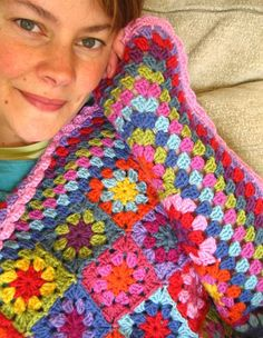 Love Lucy at Attic24! She makes the most cheerful crochet project and has an uplifting blog.   Summer Garden Afghan