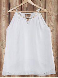 Elegant Chainmail Jewel Neck Sleeveless Layered Tank Top For Women
