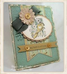 My Heart Is With You using Stampin Up Garden Collage