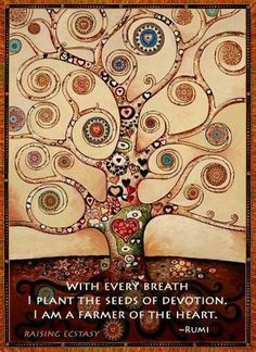 Explore inspirational, rare and mystical Rumi quotes. Here are the 100 greatest Rumi quotations on love, transformation, existence and the universe. Rumi Poem, Rumi Quotes, Spiritual Quotes, Inspirational Quotes, Rilke Quotes, Buddha, Healing Heart, Tree Art, Tree Of Life
