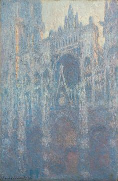 The Portal of Rouen Cathedral in Morning Light; Claude Monet (French, 1840 - 1926); France; 1894; Oil on canvas; 100.3 × 65.1 cm (39 1/2 × 25 5/8 in.); 2001.33; J. Paul Getty Museum, Los Angeles, California
