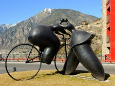 WINNER'S KISS Andorra    Winner's Kiss, by the French artist Jean-Louis Toutain, beautifies this mountainside roundabout in the parish of Escaldes-Engordany, Andorra la Vella.