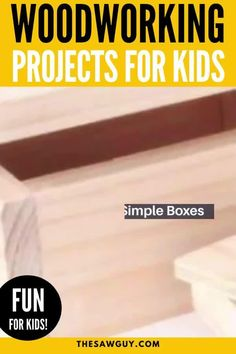 Woodworking can be an activity you can bond over with your kids. Click on for 26 of the best woodworking projects that are kid-friendly. Many of these projects do not require fancy power tools. Enjoy! #thesawguy #woodworking #diyforkids #projectsforkids #easywoodworking #woodworkingforkids #woodworkingforbeginners Arts And Crafts Projects, Diy Wood Projects, Easy Projects, Wood Crafts, Project Ideas, Workshop Storage, Workshop Organization, Woodworking Projects For Kids, Woodworking Crafts