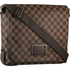 Louis Vuitton Damier Ebene Canvas Brooklyn Mm N51211 Ahl-$237