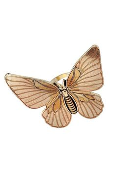 large butterfly ring at topshop