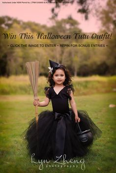 Enter to Win A Halloween Witch Tutu Outfit!  Click to enter and/or repin for bonus entries!